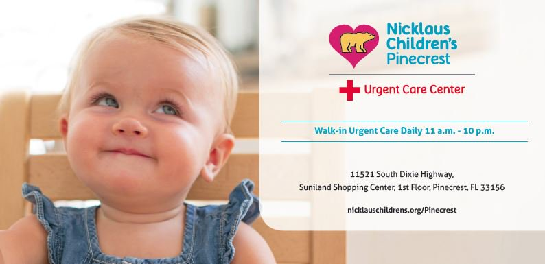 The Nicklaus Children S Pinecrest Urgent Care Center Provides Prompt