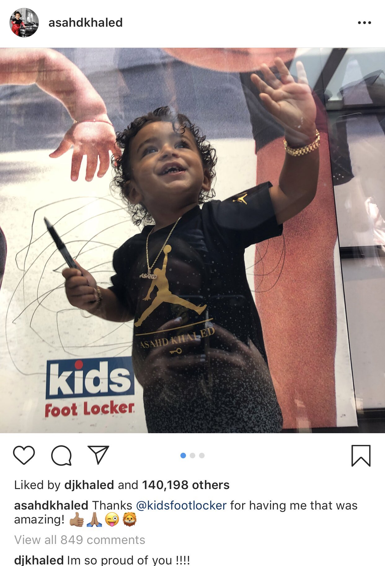 DJ Khaled comments on Asahd's IG photos the same way we talk about our prospects. https://t.co/1pYRUR2xVM