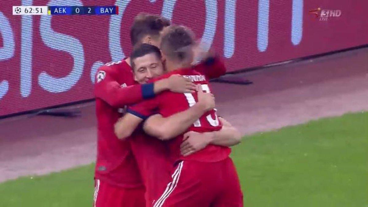 #UCL - RESULTS:  AEK 0-2 Bayern Young Boys 1-1 Valencia