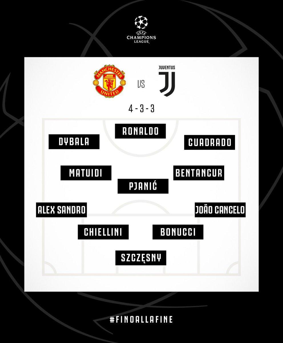 Starting XI dan Formasi Pemain Juventus vs MU (twitter @juventusfcen)