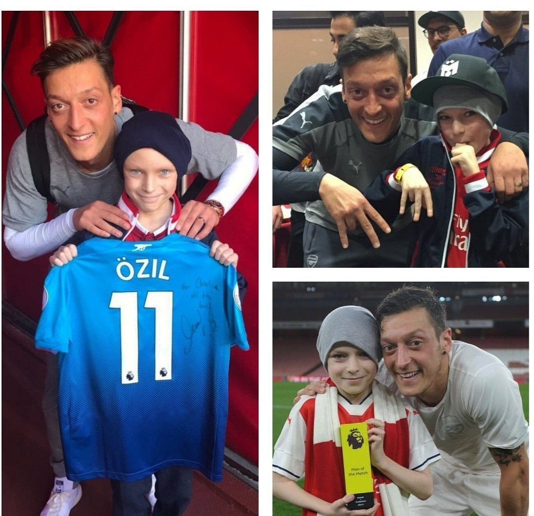Such sad news to hear that my friend and huge @Arsenal supporter Charlie has passed away after his long battle with cancer. 😓🙏🏼 Rest in peace! We will miss you so much, Charlie ❤