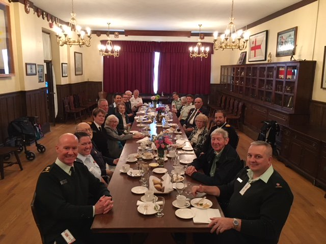 Several students from the #canadianforcescollege Joint Command and Staff Program had lunch with some Veterans from Sunnybrook Hospital today.  A great meal was accompanied by some fantastic stories!