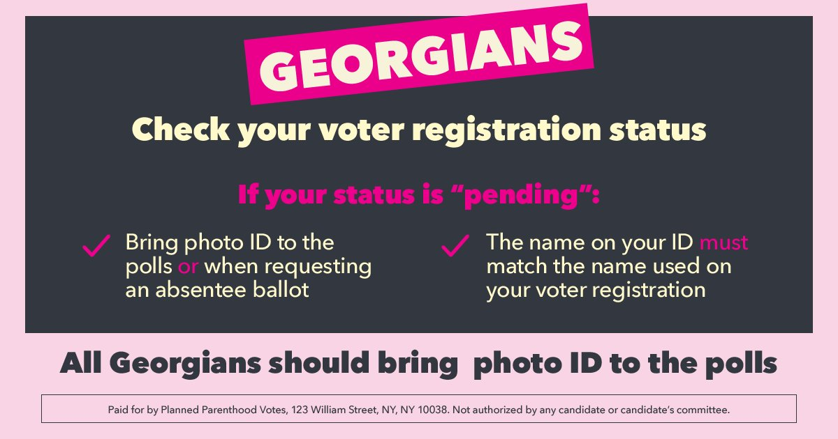 """@staceyabrams Like Abrams said at tonight's debate: """"The right to vote is a right."""" Let's make sure to exercise and protect our rights — by voting early to #TakeItBack .   Find your polling placehttps://t.co/S6zn2v18dJ #GaGov:   https://t.co/"""