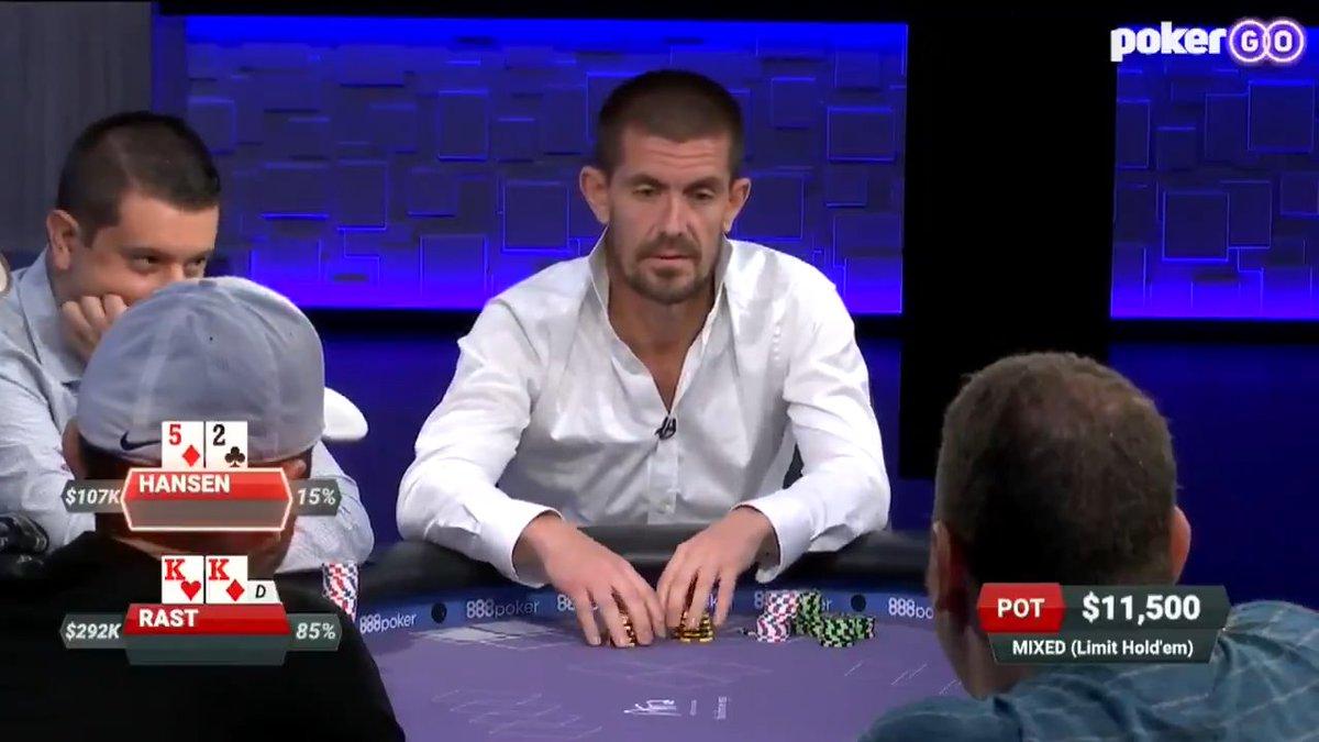 """PokerGO on Twitter: """"Trips for @GusHansen, but @tsarrast"""