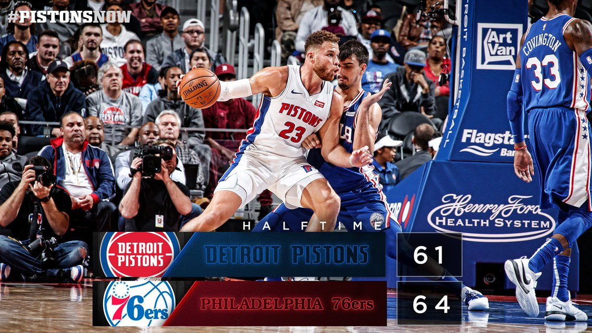22 in the second quarter.  28 in the game for Blake. #PistonsNow