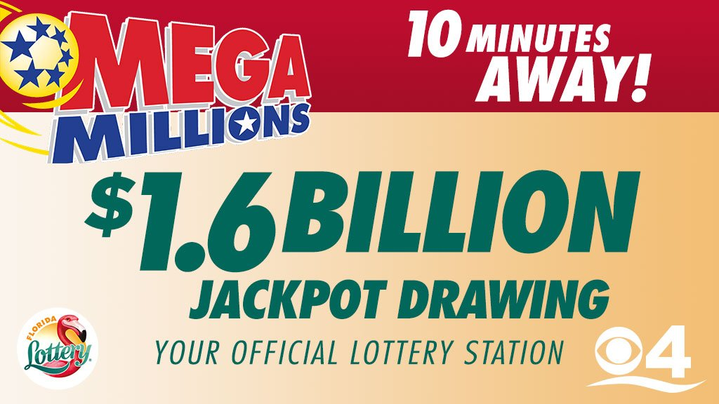 Are you ready to win the record $1.6 billion #MegaMillionsJackpot?  Watch the numbers being drawn LIVE in 10 minutes on the #CBS4 News at 11, your official lottery station. https://t.co/DDXjgHZ4F2  @floridalottery