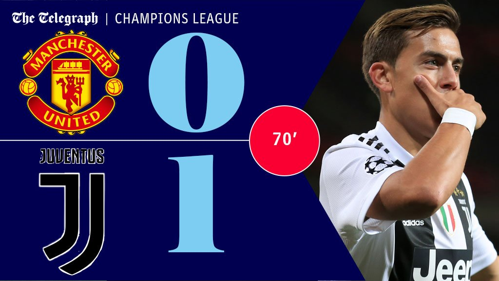 Juventus have reasserted control after a spell of United pressure but their lead remains one #MUFC  https://t.co/s36ScHyCey