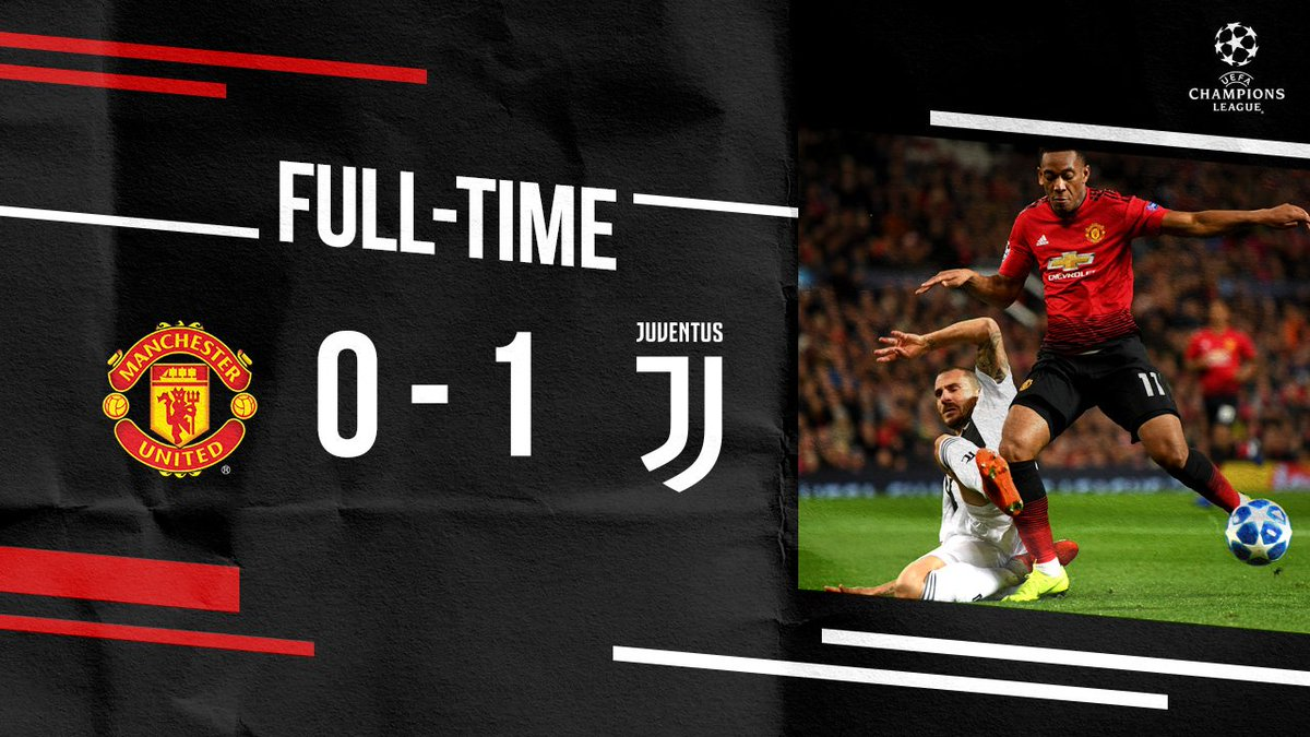 We pushed hard but it ends in a narrow defeat. #MUFC #UCL