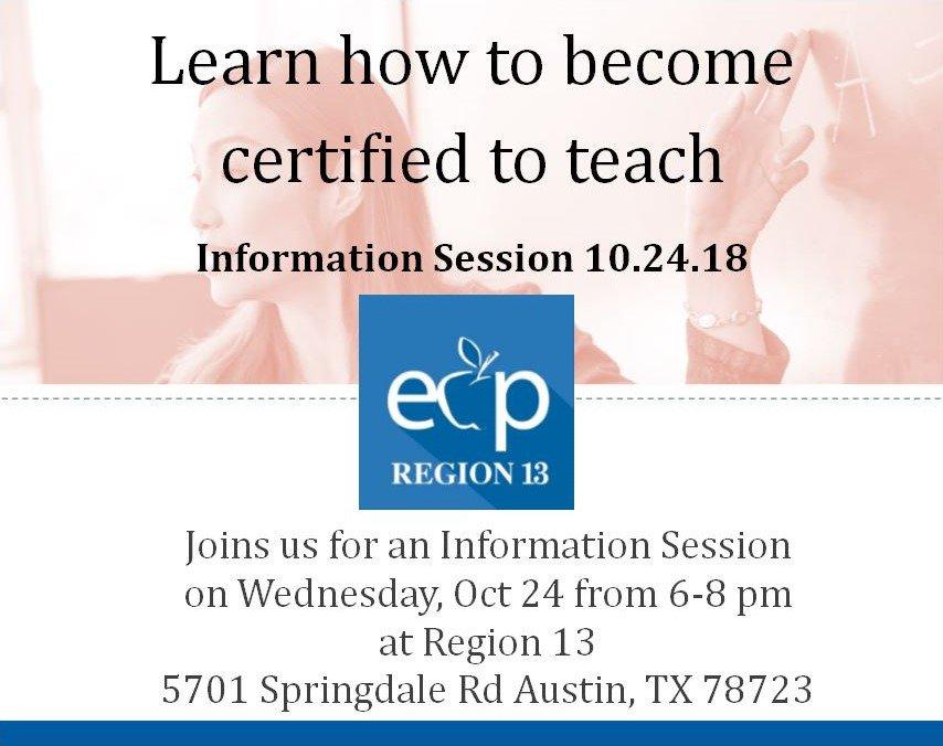 Educator Certification Program Region13ecp Twitter