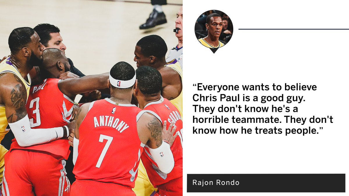 Rondo is making claims 👀
