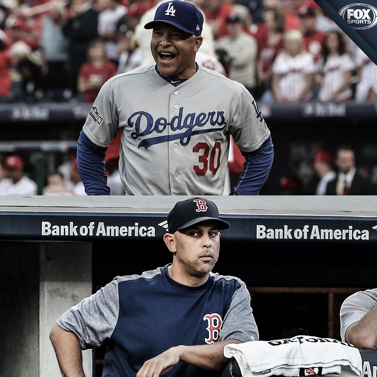 Dave Roberts and Alex Cora are the first minority managers to square off in a World Series…EVER.