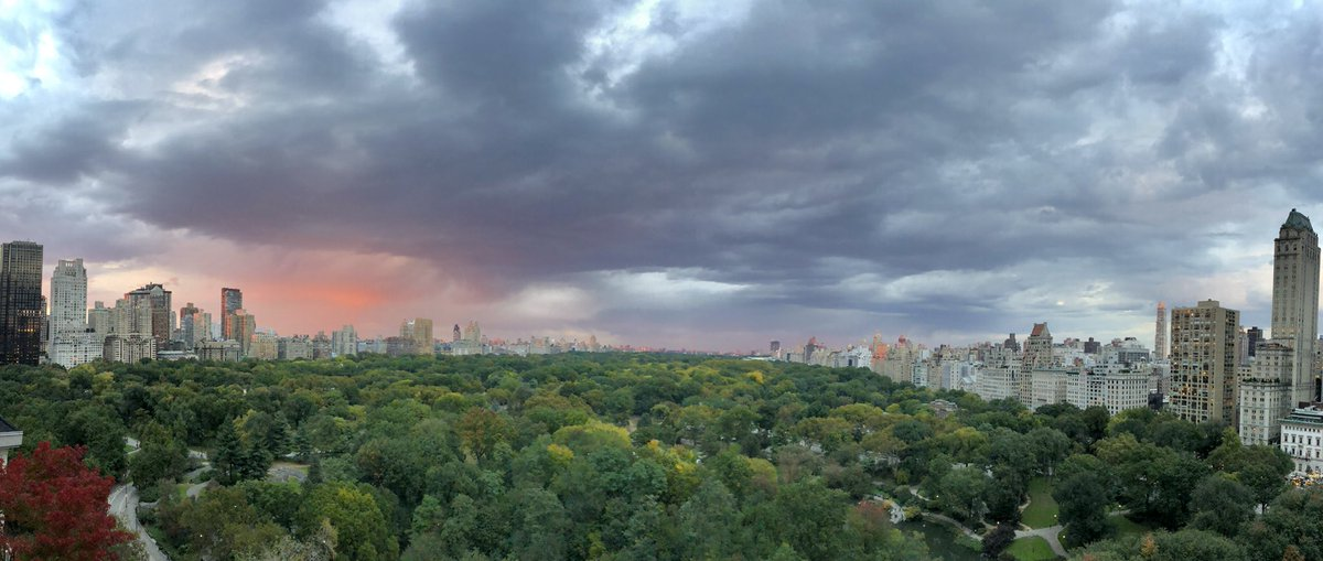 From rainbow to red omens in one hour #NYC