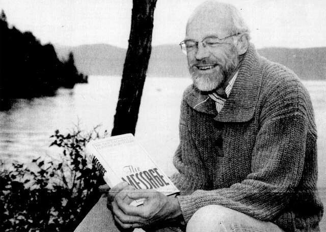 """Remembering Eugene Peterson (1932-2018), author of """"The Message"""", poet, and pastor who helped us all imagine God more beautifully. — #eugenepeterson #artoffaith Photo: Karen Nichols/Daily Inter Lake. https://ift.tt/2yY4Zc3"""