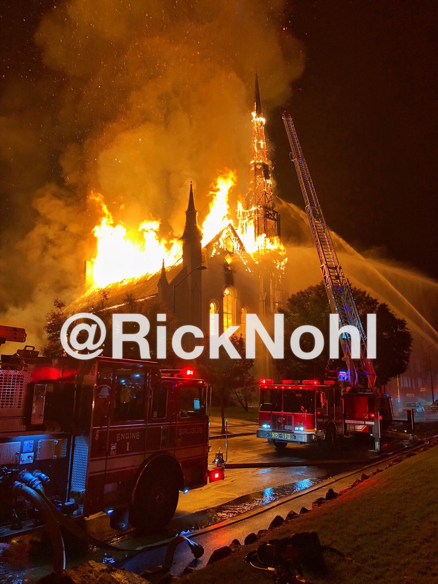 Aaaaand A 5th Alarm Transmitted Per Wakefield Ma Chief Of Department For The Church Fire On Lafayette P O By Ricknohl No Media Usage W O Permission Of