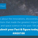 Image for the Tweet beginning: Help @theAGU collect 100 Earth