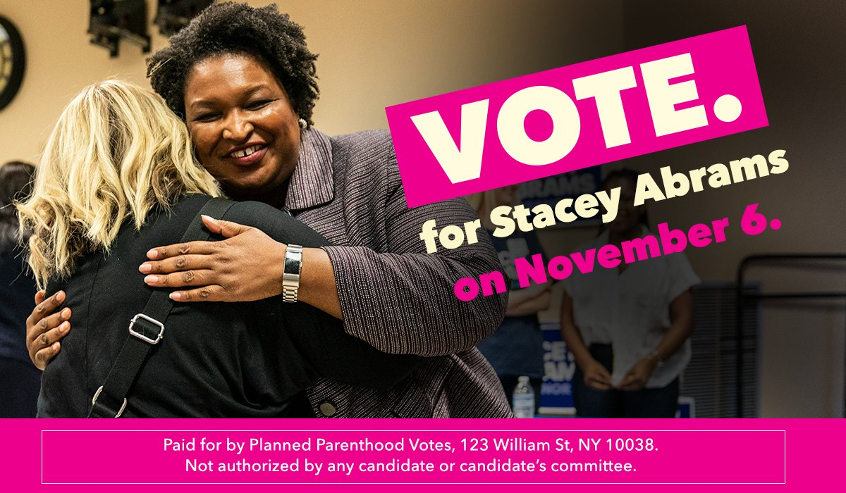 """My day-one priority is expansion of Medicaid."" –Stacey Abrams  500,000 Georgians who could gain coverage couldn't agree more #GAGov."