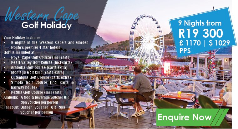 Western Cape Golf Holidays 9 nights in the #WesternCape's and #GardenRoute's premier 4-star hotels 7 Rounds of golf and much more... see https://www.golfholidaysinsouthafrica.co.za/golf/western-cape-golf-holiday/ …pic.twitter.com/YidAbsd4zG