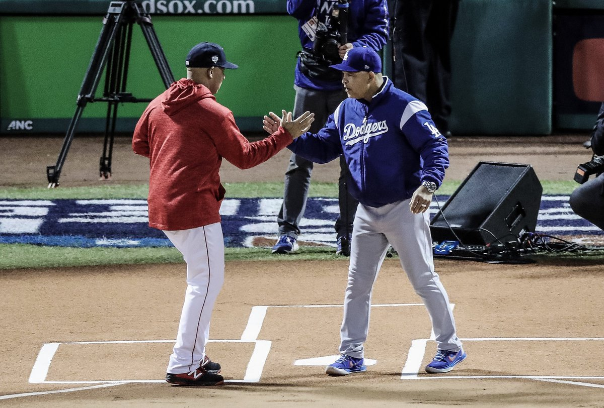 Alex Cora and Dave Roberts are the first pair of minority managers to meet in the #WorldSeries.