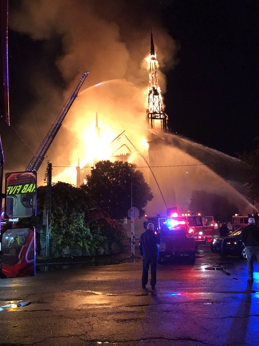 Rehab Five On Twitter Seven Alarm Fire In Wakefield Church Hit By Lightning