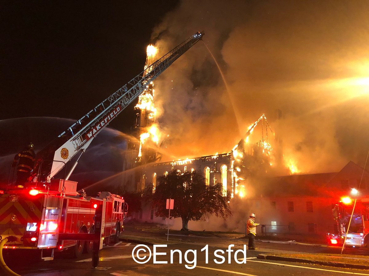 Da N Drella On Twitter Wakefield Ma 7 Alarms Ultimately Transmitted For The Fire 8 Lafayette St The First Baptist Church The Building Was Apparently