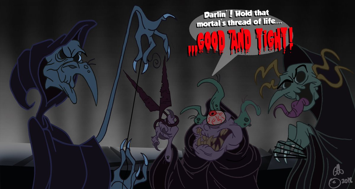 Clint Hopfe On Twitter The Three Fates From Disney S