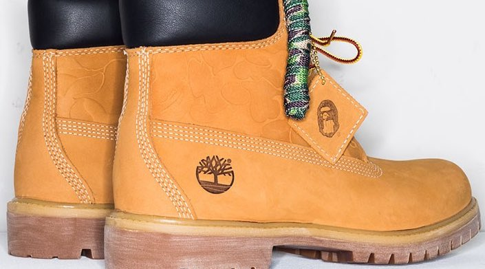 """UNDFTD and BAPE take on the classic 6"""" Timberland Boot this season. https://t.co/gepbr4nycK"""