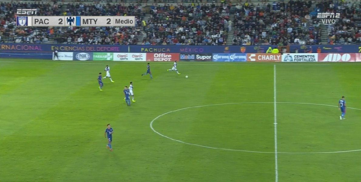 ¡Descanso en Pachuca!  @Tuzos y @Rayados empatan a dos, Monterrey juega con 10 por la expulsión de Nico Sánchez. #LaCopaxESPN 🏆  🐹 2-2 🤠  🔥¡EN VIVO! 📺ESPN 2 ¡Sigue el partido! 👇 https://t.co/shcc1UFegq