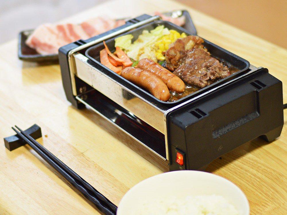 サンコー、ほぼB5サイズの「卓上ひとり焼肉プレート」を発売