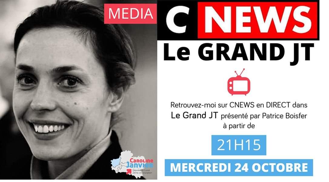 [#MEDIA] 📺 Retrouvez-moi ce soir en direct, sur @CNEWS dans le Grand JT présenté par @PATRICEBOISFER.