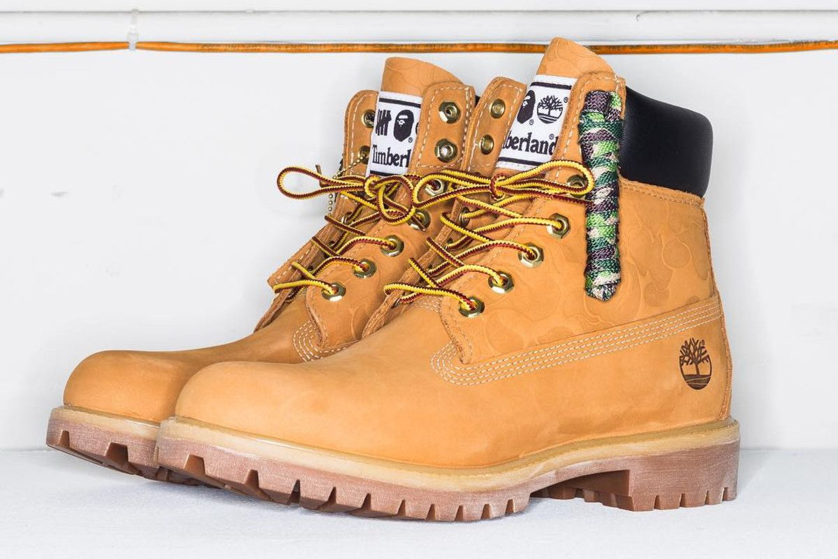 6fdc2caf25b83 undefeated reveals collaboration with bape on the classic timberland 6 inch  boot