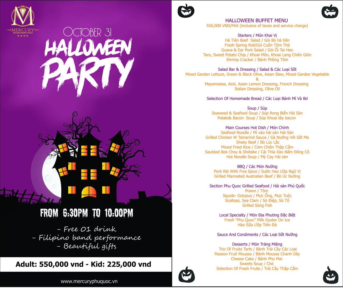 #Halloweenparty at #mercuryphuquocresortandvillas Please join us. https://t.co/zWJvTV2N9r