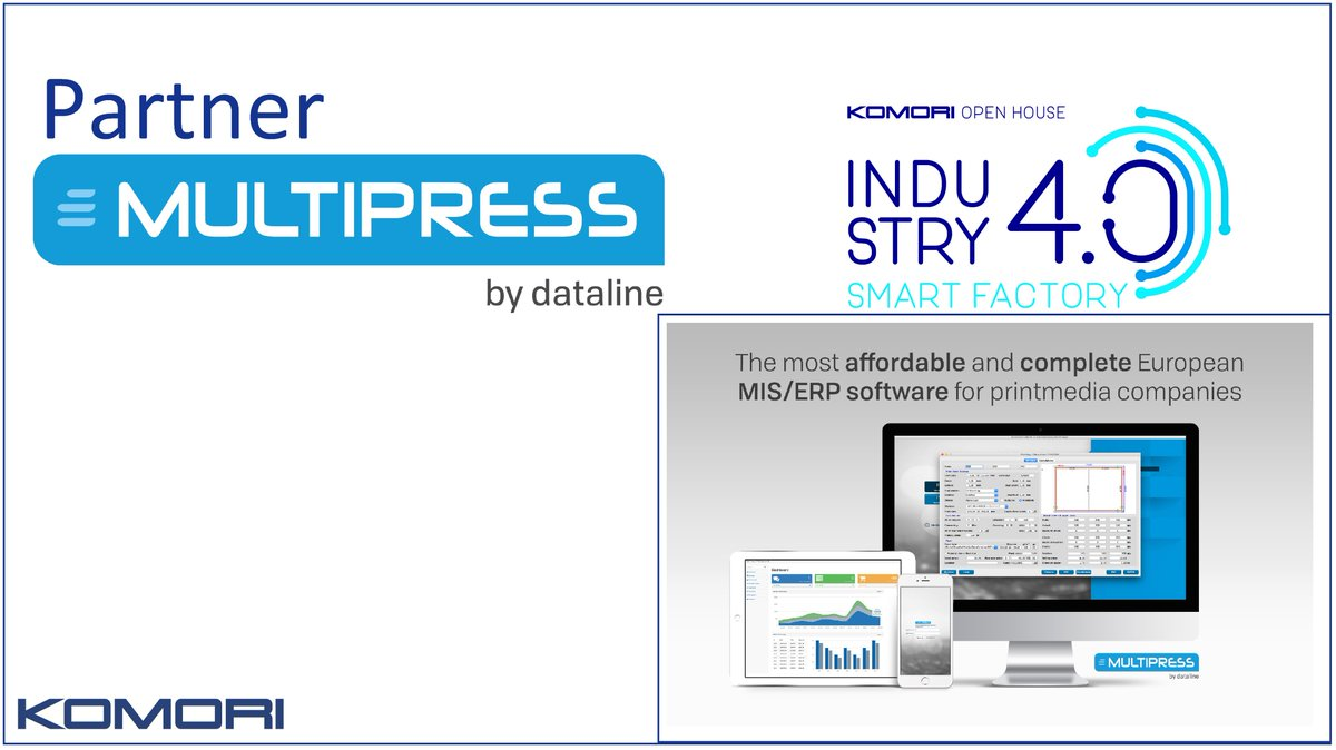 Come and meet #MultiPress at Komori Autumn Open House on 7 and 8 November! Discover the latest trends in Industry 4.0 and test the @Dataline_eu MultiPress Calculation Wizard during a personal demo. Let's meet ! https://t.co/Zbte65Hz7Z