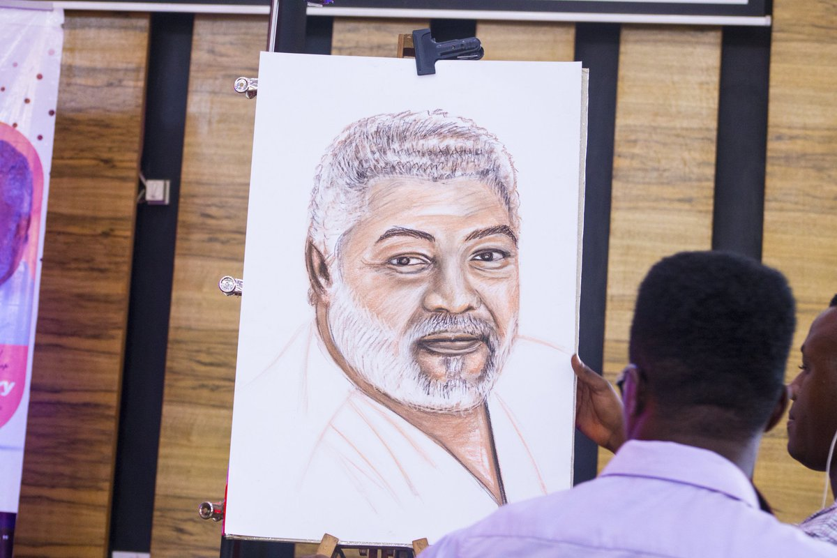 Innovate quick sketch 15mins life drawing of h e jerry john rawlings on stage jj rawlings thenanaaba