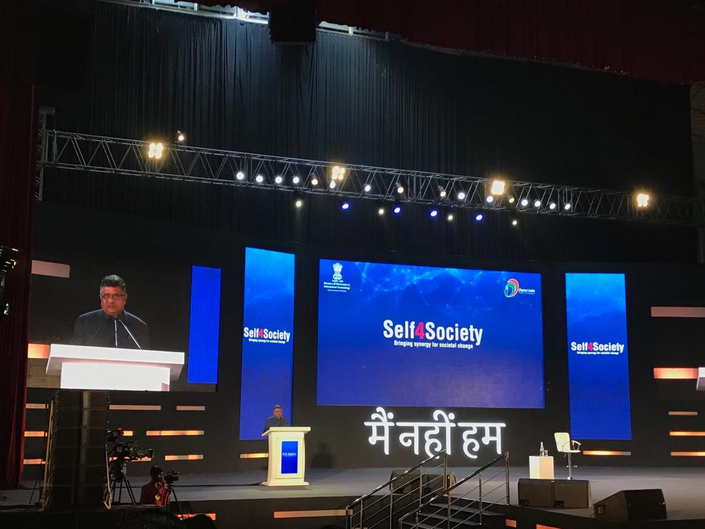 #Self4Society begins with a welcoming address by @rsprasad, Minister, @GoI_MeitY to open this august occasion https://t.co/mYzWOPHkT0