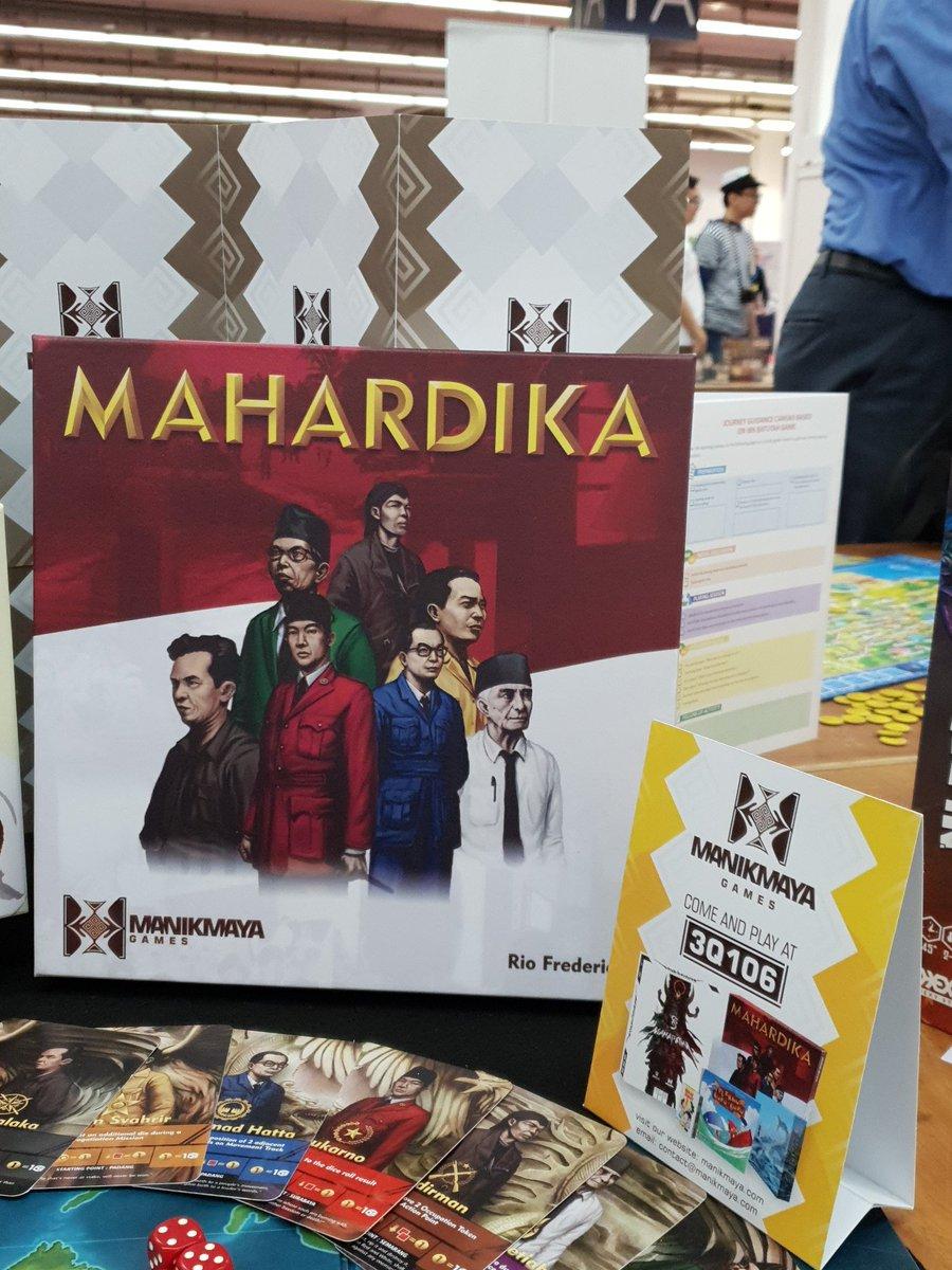 Mahardika ist eines der #Brettspiele aus Indonesien. Spielbar in Halle 3, Stand Q106 auf der #SPIEL18. https://t.co/nTq7k59SVn