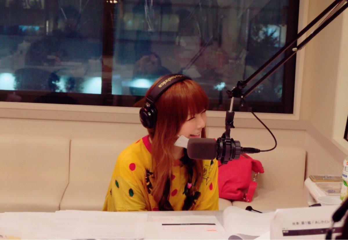 aikoラジオ収録で可愛い笑顔