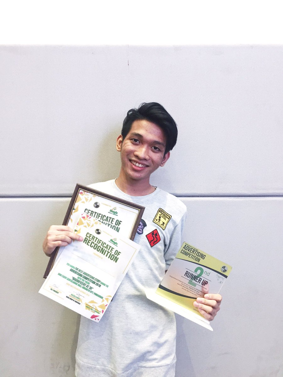 I would like to thank the academy and myself for these awards! 🤪 #AdvertisingCompetition #UpJMA
