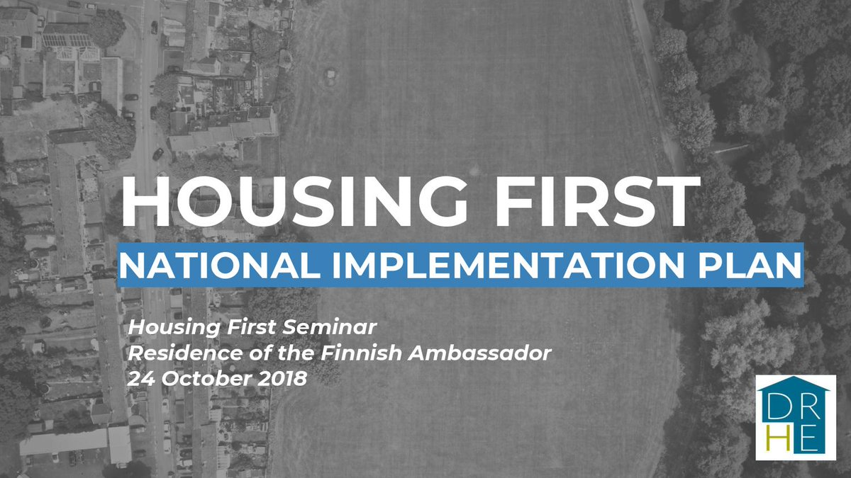 Our HF National Director Bob Jordan gave a presentation on the #housingfirst National Implementation Plan earlier today  Thanks to @a_mutanen & all at the Finnish Embassy for a brilliant seminar See https://www.homelessdublin.ie/content/files/Housing-First-Presentation-Finnish-Embassy-24-Oct-2018.pdf …