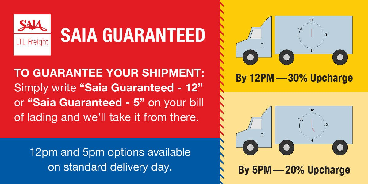 When you work with us, you don't have to worry about customers receiving late shipments. Find out more about our guaranteed on-time delivery: ...