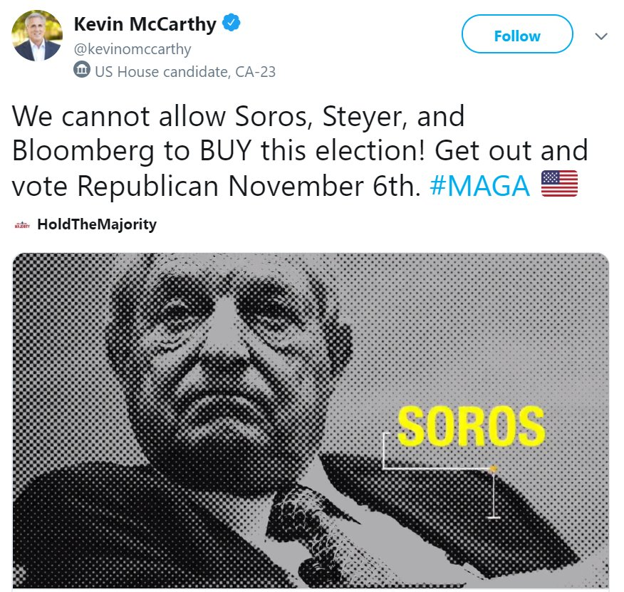 Image result for kevin mccarthy jews tweet