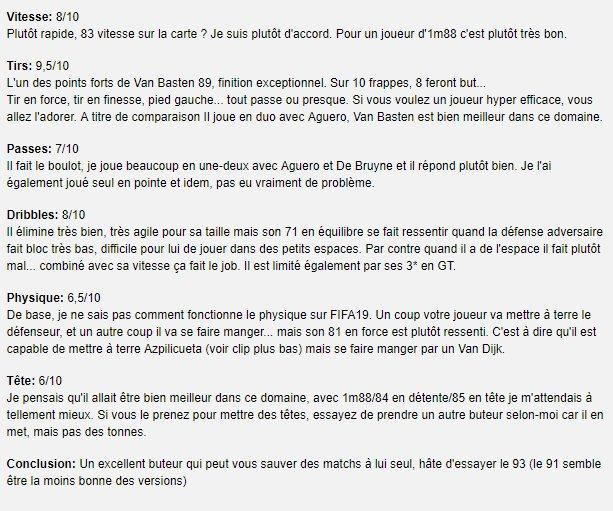 Carte But Avis.Iamfrench On Twitter Mon Avis Sur Van Basten 89 Fifa19