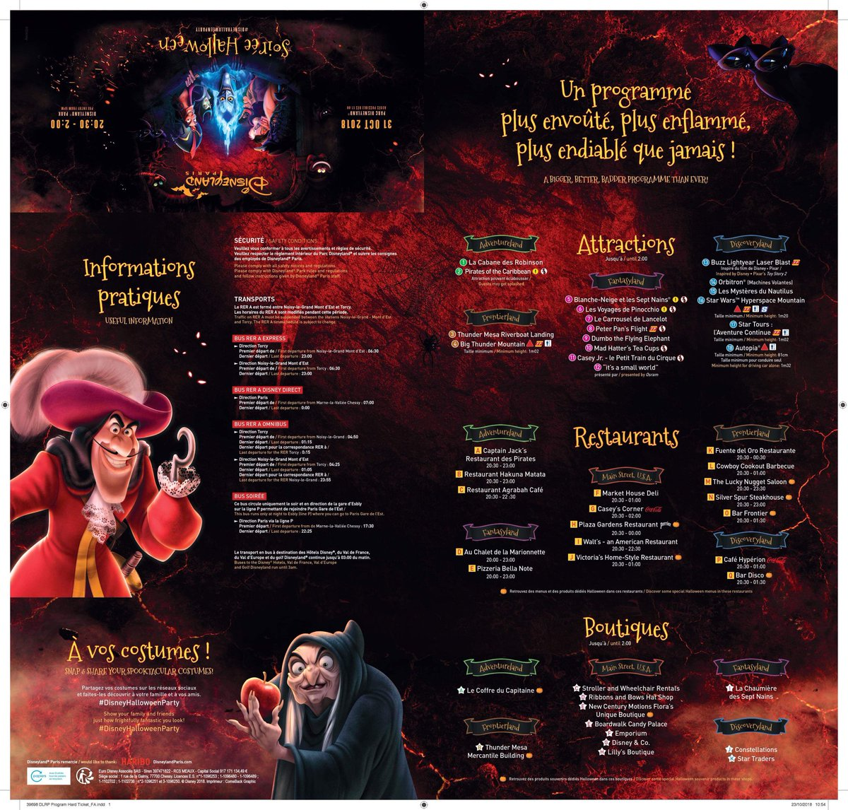 Disneyland Paris Halloween Party 2018.Ed92 On Twitter Official Programme For The 2018