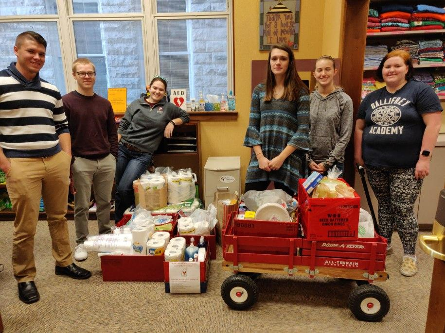 The Bellarmine University Accounting Association spent this past weekend  delivering a truckload of donations and serving meals to residents. A  big thank you to these students and advisor Christy Burge for being  involved in our community. @RMHCKentuckiana
