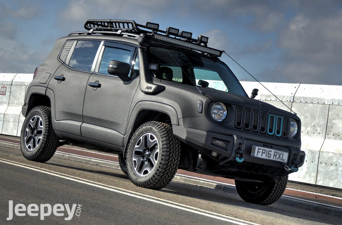 Jeep Renegade Lifted >> Jeepey On Twitter Raptor Coated Renegade With 2 Lift