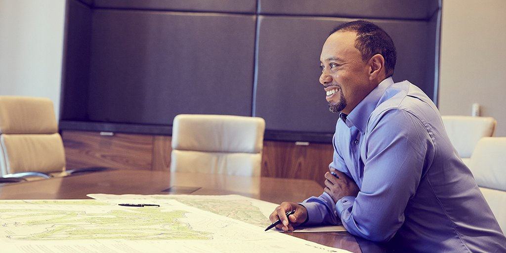 I am so inspired to design fun and playable courses that bring people together. -@TigerWoods