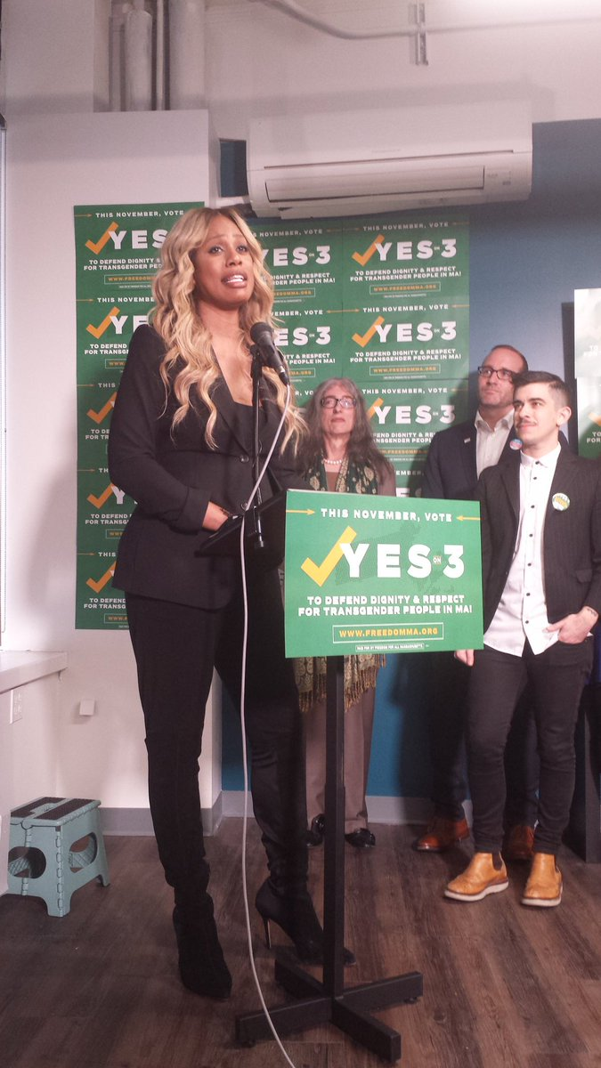 .@Lavernecox 'Opponents of #transrights want to make you afraid. Don't let them.' #YesOn3