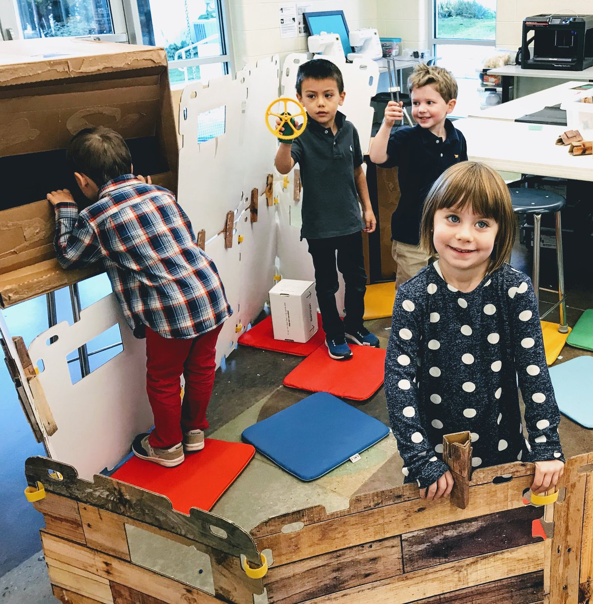 There are times when you just have to make a fort #GlobalMakerDay #prek