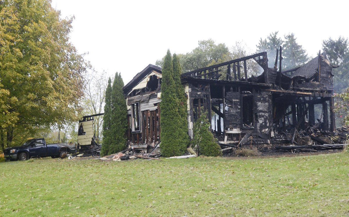 Home destroyed by overnight fire in Town of Seneca