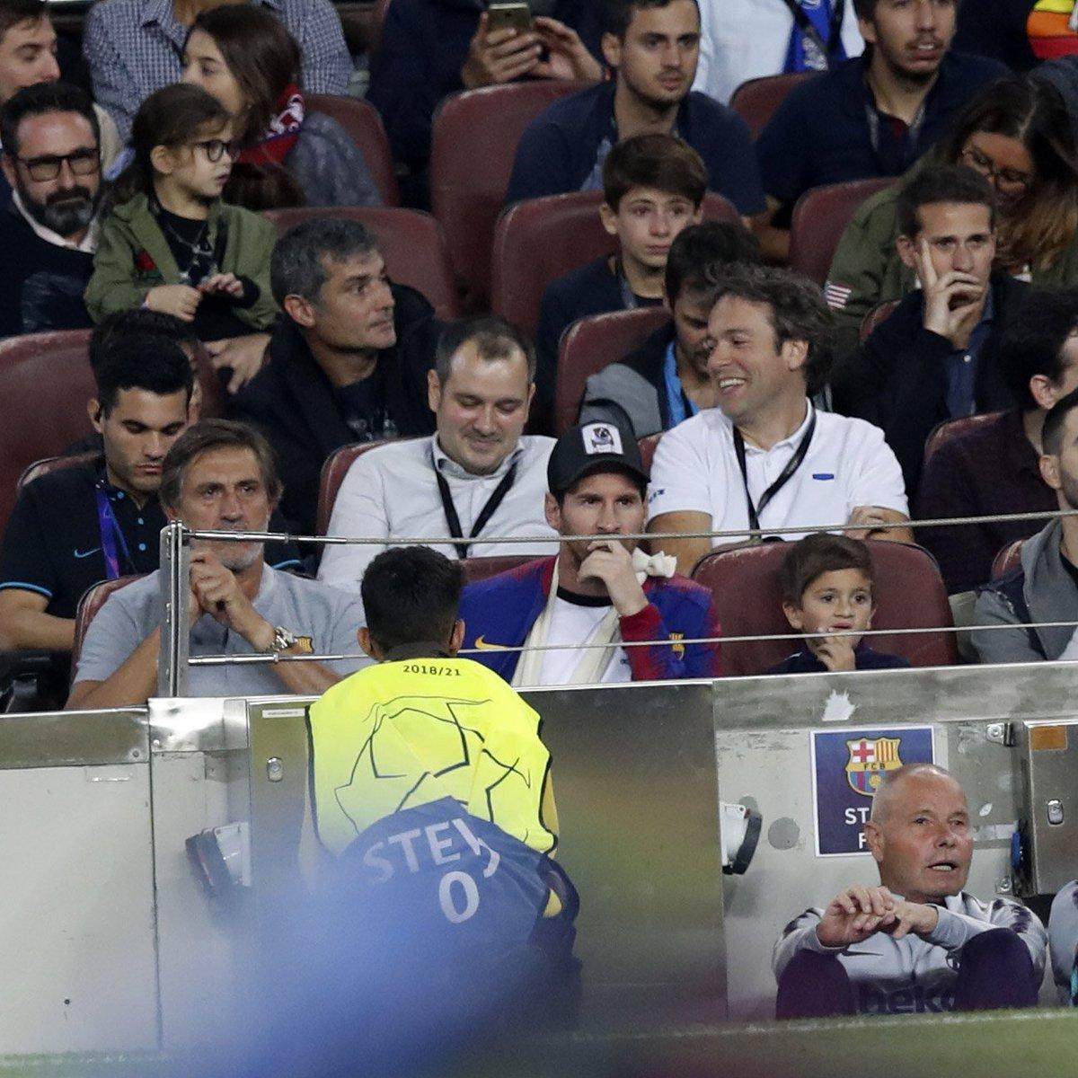 Sin Messi en la cancha