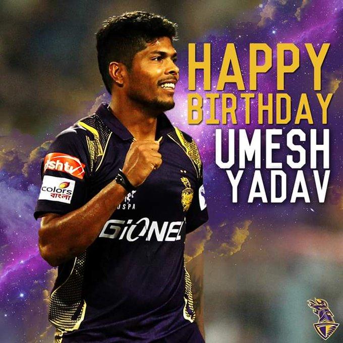 Wish you HAPPY BIRTHDAY *Umesh Yadav*. God bless you
